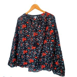 Sonoma floral long sleeves blouse size XL